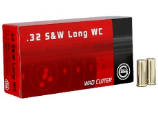 B - 50 CARTOUCHES 32S&W LONG WADCUTTER 93GRS