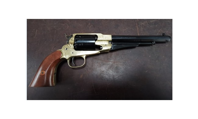 1858 REMINGTON NEW MODEL ARMY TEXAS GRAVE CAL 44